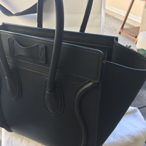 Celine Bags - Céline Micro Luggage in Black